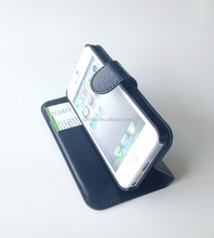 Hot Selling Pu Leather Mobile Phone Stand Flip Case for Apple iPhone 5/5S