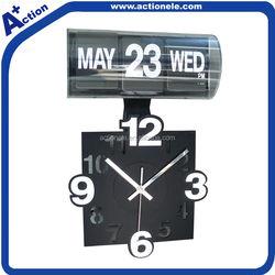 Auto calendar flip wall clock
