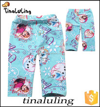 2015 summer girls 7th fitness leggings,kids frozen printed leggings children tights pa