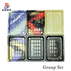 Disposable PS Plastic Japanese Sushi Box Food Tray Fruit Tray Container