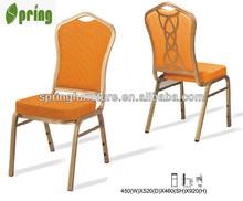 Alta calidad respaldo alto silla de metal utilizado sillas de la iglesia decorar sillas CT-967