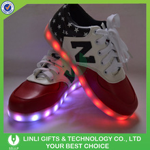 USB Rechargeable Color Changing Led Light Shoes For Party