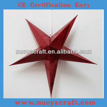 Red 72cm hanging folding Festive indoor and outdoor decorative handmade paper stars NY05004