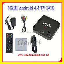 4K Android 4.4 TV Box For 4K TV Quad Core 2G DDR 8G Flash With Full Loaded 13.1 XBMC