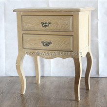 Europe Style Antique Hand Carved Furniture Rococo Nightstand