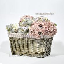 barato clásico de almacenamiento de mimbre canasta o cesta de la flor