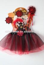 vestido de fiesta para niños de halloween