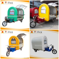 Durable and cheap street food vending cart/used coffee vending tricycle for sale