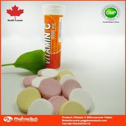 Colorful Vitamin C Effervescent Tablet