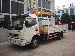 4t truck crane,truck mounted folding arm crane