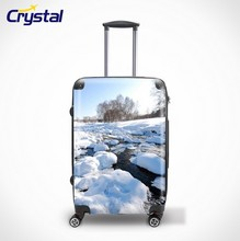 1680D China Supplier Fashionable PC Leisure Travel Trolley luggage Set/Carry on Airport Luggage Trolley/New Style Luggage