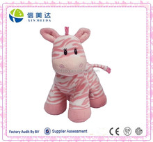 Custom pink zebra stuffed animal