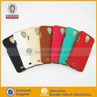 for samsung galaxy s4 i9500 leather hard back cover case