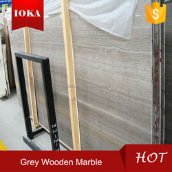 China Grey Wood Marble Polished tiles for flooring and wall cladding