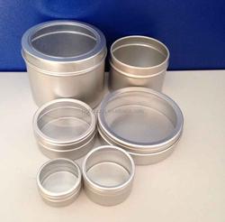 Aluminum Tin box with pvc transparent lid