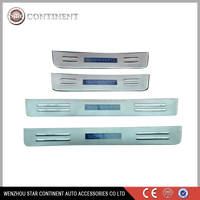 car accessories stainless steel car led door sill for 2013 Sorento