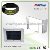 Smart motion sensor LED solar gateway light
