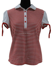 yarn dyed women's polo shirts