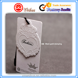 700gsm Thick material Custom printed Famous brand fashion paper hang tag for women's garment