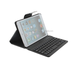 Colorful Wireless Bluetooth Keybaord for iPad Mini with Leather Case
