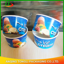 Custom Print Disposable Ice Cream paper cup,disposable yogurt paper cup,Eco-Friendly disposable paper bowl