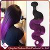 16inch virgin brazilian unprocessed human body wave hair weave brazilian hair weaving bundles wave purple ombre hair