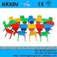 PP plastic kids play tables for 12 children