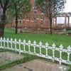 plastic white garden lawn edging