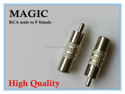 wholesale high quality RCA male to F female connectors
