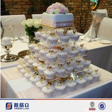 Acrylic 5 TIER ROUND PERPLEX cake display stand, lucite cupcake stand