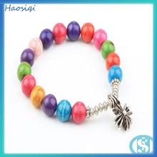 Alibaba best selling turquoise,tiger eye, Lapis lazuli natural stone stretch bead bracelet