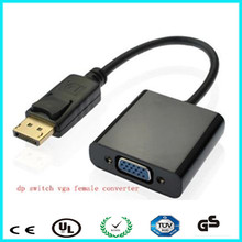 Support display port v1.2 golden nickle male DP to female vga adapter