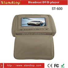 7 inch car headrest dvd player with zipper cover and USB
