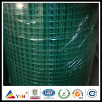 1x1 Green PVC Coated Welded Square Wire Mesh(Hebei Anping YSH Factory)
