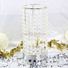 led table centrepiece/centerpiece riser/beaded centerpiece cylinder for wedding table centerpiece