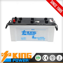 High quality 12V 150AH Dry Charged Auto battery N150 with low price