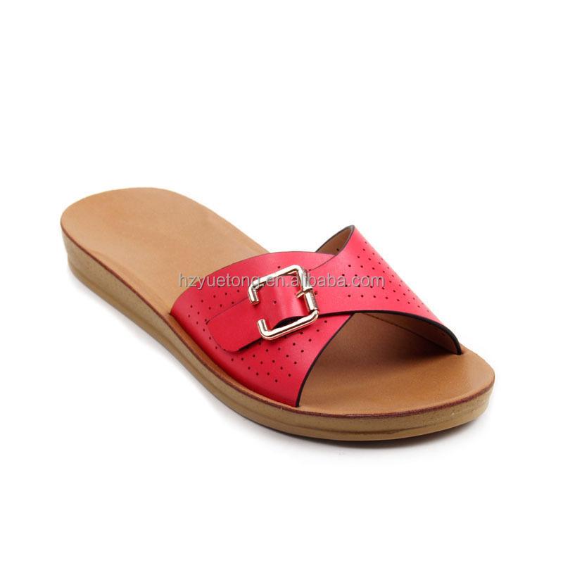 New  Buckle Flat Dress Sandals 38 M EU  775 BM US White Shoes