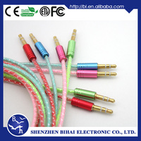 100% test Gold connector Digital Fiber shielded audio cable