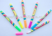 13.7*1cm t-shirt graphic pens permanent fabric marker for Kid's DIY drawing on t-shirt