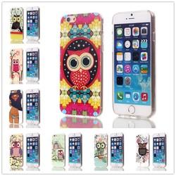 Glitter Owl Pattern TPU Phone Case For iPhone 5 case