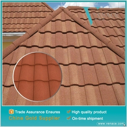 Color stone coated metal roof tile types of roof shingles