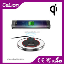 Transparant LED Light for iPhone 5/6/6S Samsung S6/S6 plus Note 5 Qi Universal Wireless Charger