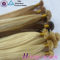 Alibaba Trade Assurance China Factory Wholesale pre glued u tip human hair extensions