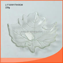 candle holder like a leaf in glass