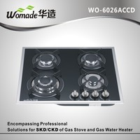 Italian tempered glass gas burners for bbq