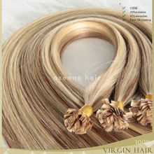 wholesale 5a brazilian remy hair 30inch100% Virgin Pre Bonded U Tip Hair,Nail Tip Hair Extension