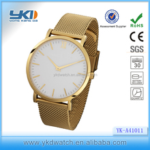 2015 Luxury simple style high end quality stainless steel 30atm water resistant watches