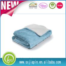 Super soft light color cheap micro plush fleece custom baby blankets fake fur sherpa blanket