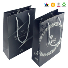 Custom black jewelry paper gift bag for Italy