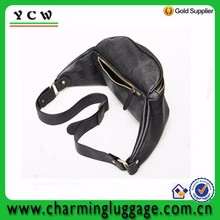 Mens PU leather casual waist bag cell phone sling bag
